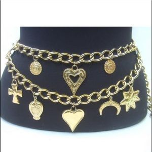 Escada Ornate Gold Charm Belt
